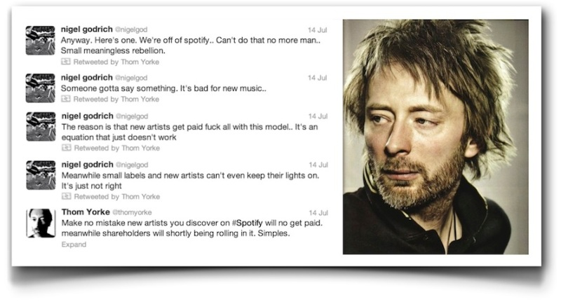 Thom Yorke vs. U2. vs. Spotify