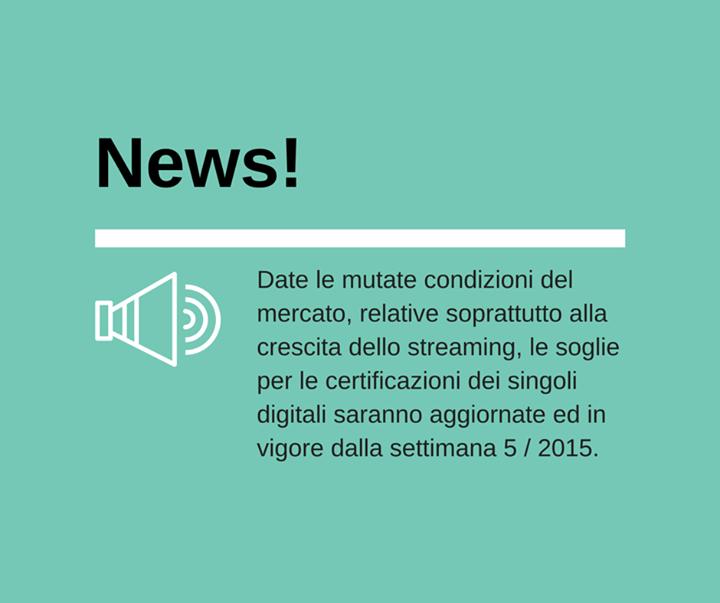 fimi streaming certificazioni oro platino 2015